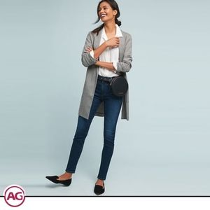 AG The Stevie High-Rise Skinny Ankle Jeans